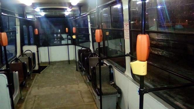 usb зарядки в трамвае